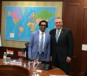 Uflex ltd.hosted Terry McAuliffe, His Excellency Governer, Commonwealth of Virginia, during his visit to India. He was accompanied by various dignitaries like Mr. Maurice A. Jones, Secretary of Commerce & Trade,