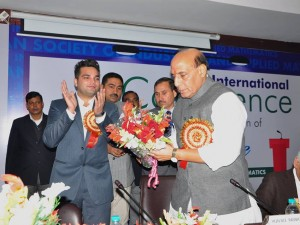 The Indian Society for Industrial and Applied Mathematics conducted a 3-day long National Seminar at Sharda University, Noida. Present at this seminar was Hon'ble Home Minister of India, Mr. Rajnath Singh, as the Chief Guest.