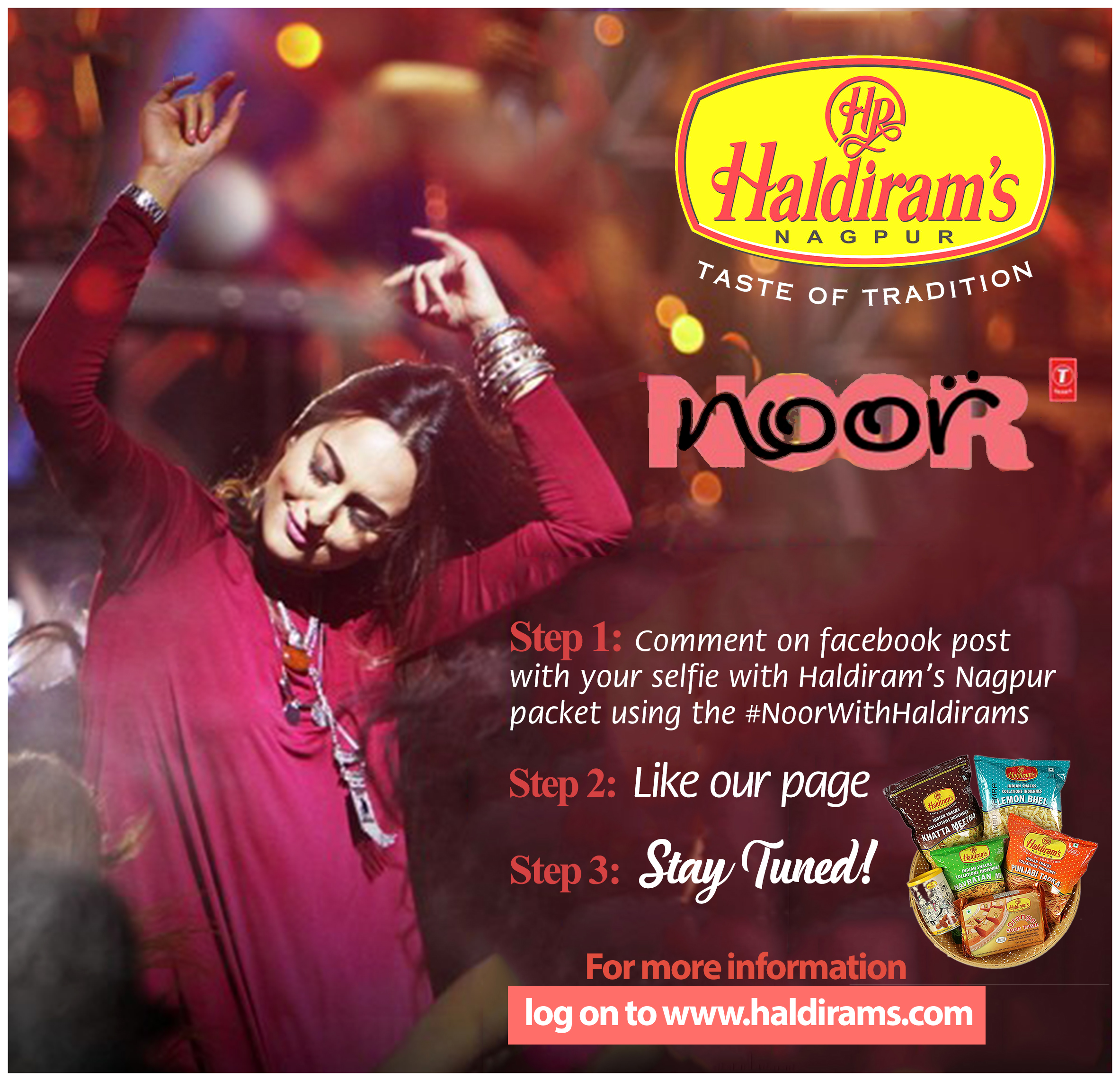 Haldirams, Haldirams Nagpur, Haldirams Nagpur Reviews, Haldirams Offer, Haldirams Contest, Noor With Haldirams