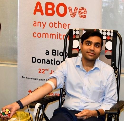 adani group blood donation drive