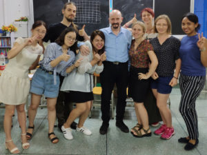 TEFL course was conducted by Geoff West, the Director of Training and Development, Haida Interact International Co. Ltd