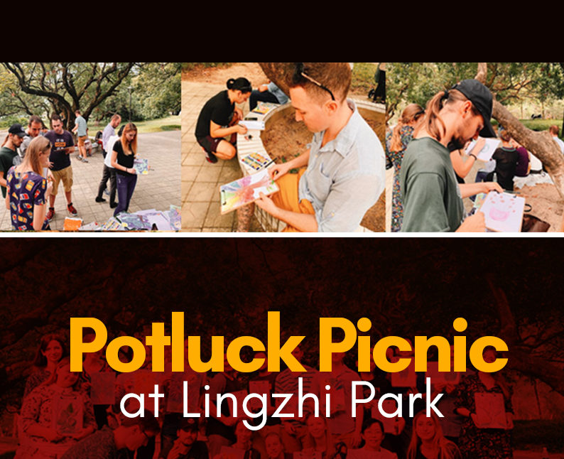 Potluck picnic for its foreign teachers